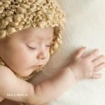 foto newborn a bebe de 50 dias