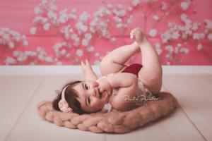 sesion de fotos bebé nena 6 meses