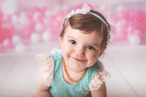sesion de fotos primer año nena estudio