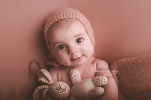 book de fotos bebé nena 4 meses