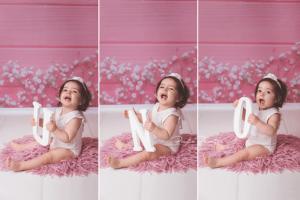 book de fotos nena 1 año en estudio